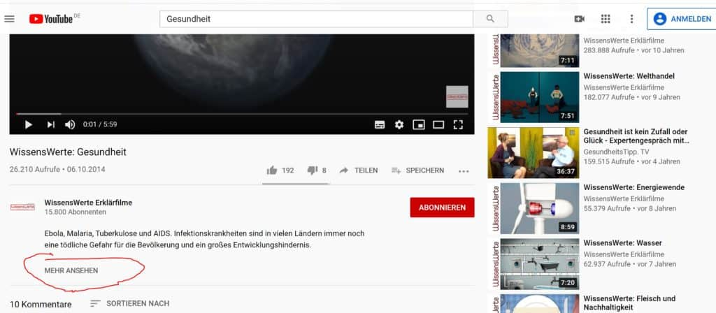 Creative Commons Youtube Filter Schritt 4