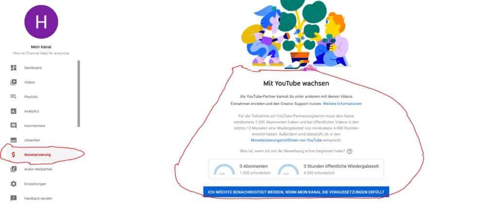 YouTube Partnerprogramm